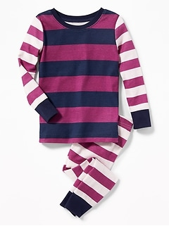 Mixed-Stripe Sleep Set for Toddler & Baby