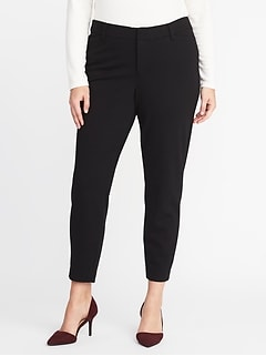 Secret-Slim Pockets + Waistband Plus-Size Ponte-Knit Pixie Trousers