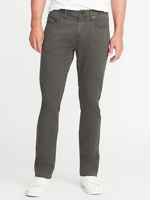 Slim Built-In Flex Brushed-Twill Pants