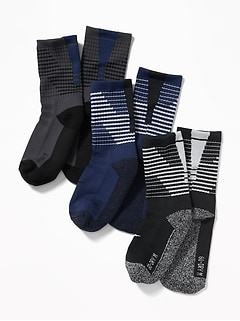 Go-Dry Crew Socks 3-Pack for Boys