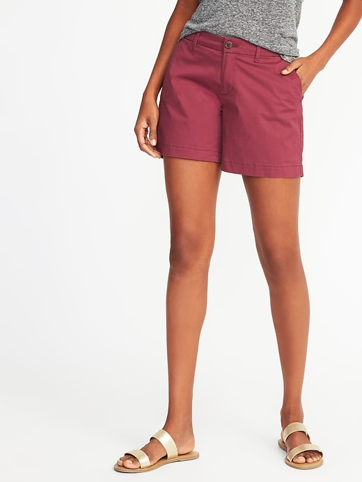 Everyday Khaki Mid-Rise Shorts for Women (5