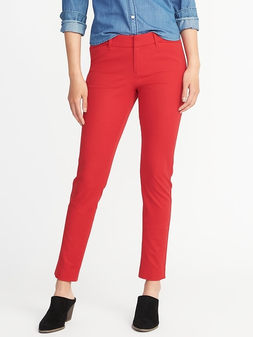 Old Navy Womens Mid-Rise Pixie Long Pants For Women Robbie Red Size 2