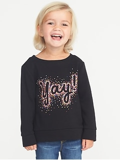 Graphic French Terry Sweatshirt for Toddler Girls