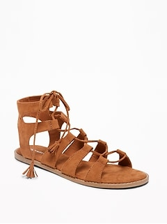 Lace-Up Gladiator Sandals for Women