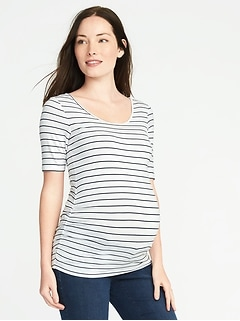 Maternity Fitted Ballet-Neck Tee