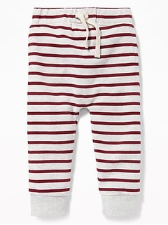 Striped U-Shape Joggers for Toddler Boys