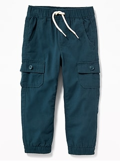 Canvas Utility Joggers for Toddler Boys