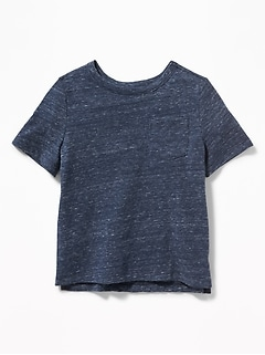 Crew-Neck Pocket Tee for Toddler Boys
