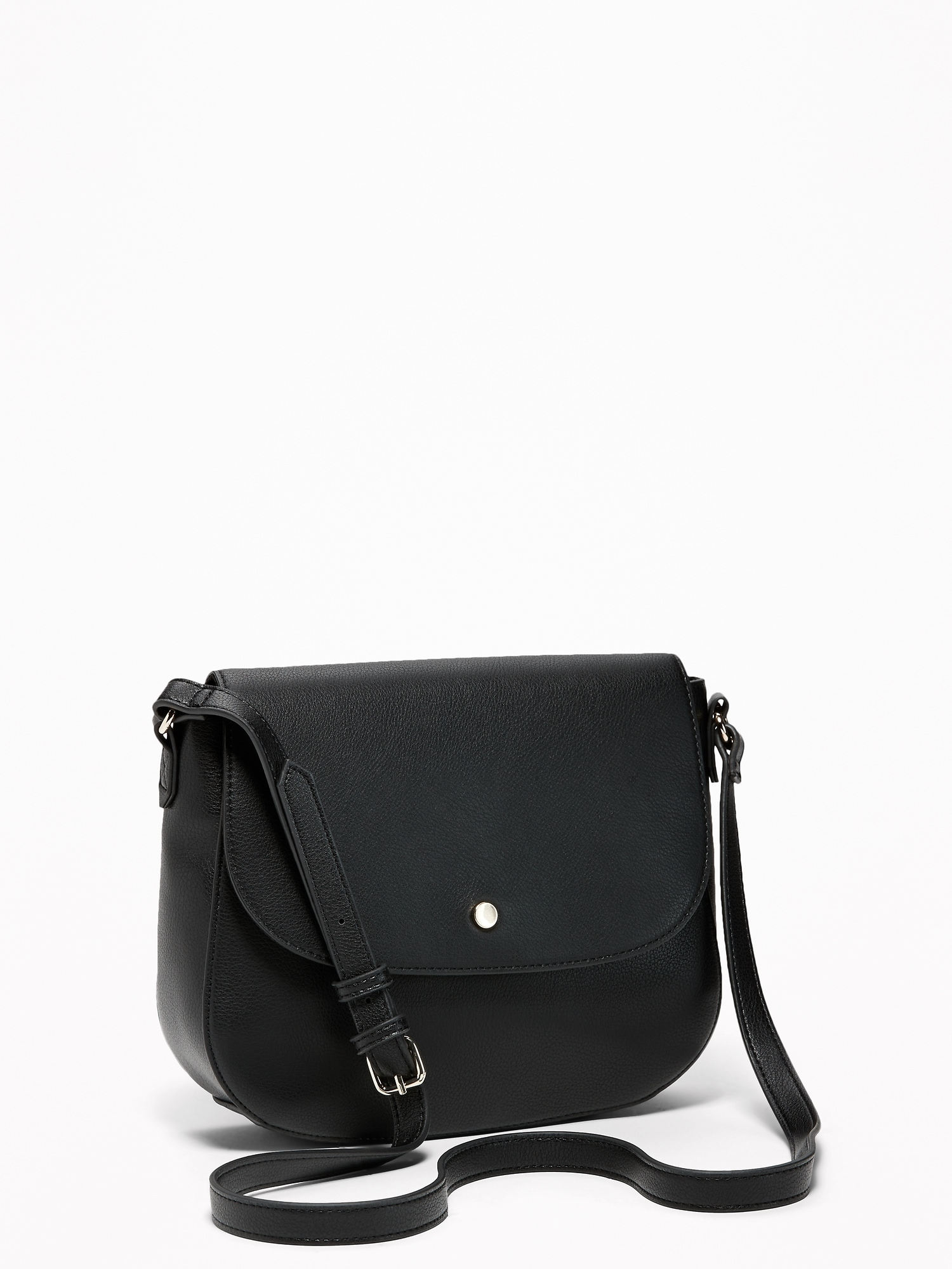 3c196abf18 Faux-Leather Saddle Bag for Women