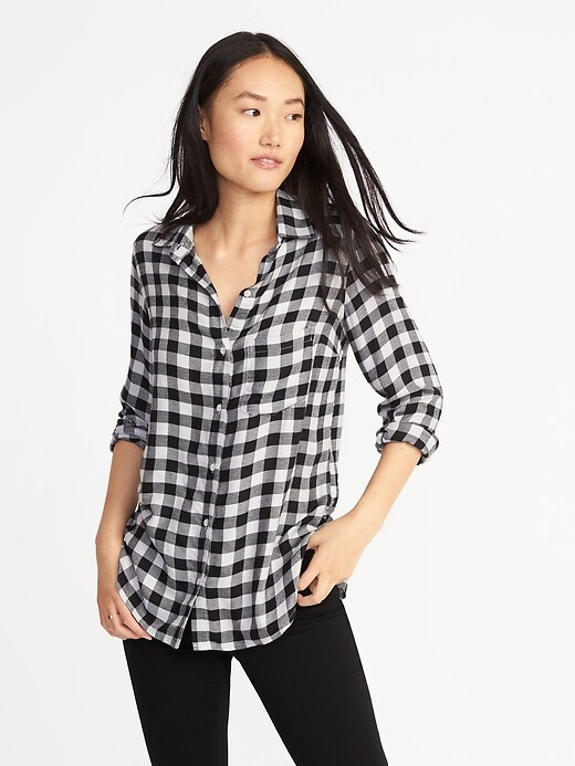 Relaxed Soft-Washed Classic Shirt for Women
