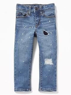 Karate Skinny Paint-Splatter Jeans for Toddler Boys