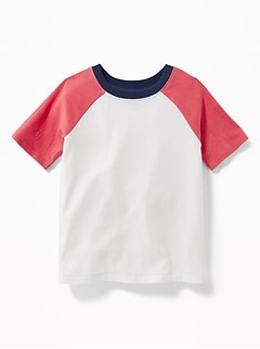 Raglan-Sleeve Color-Block Tee for Toddler Boys