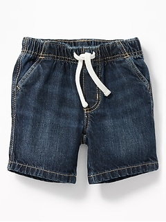Pull-On Denim Shorts for Baby