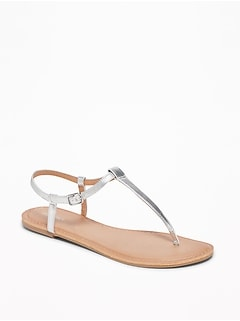 T-Strap Sandals for Women