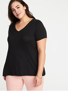Plus-Size V-Neck Swing Tee