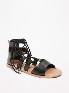 Lace-Up Gladiator Sandals for Girls
