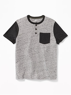 Color-Block Pocket Henley for Boys