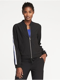 Loose-Fit Performance Bomber Jacket for Women