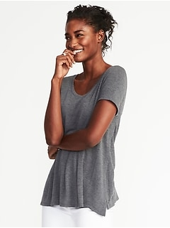 Maternity Side-Slit Nursing Tee