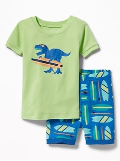 Dinosaur-Surfer Sleep Set for Toddler Boys & Baby