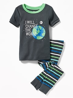 """I Will Change the World"" Sleep Set for Toddler & Baby"