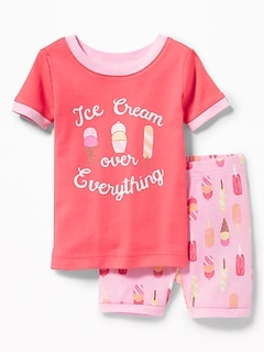 """Ice Cream Over Everything"" Sleep Set for Toddler & Baby"