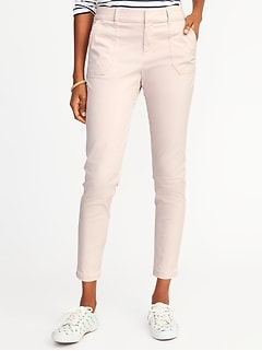 Mid-Rise Utility Pixie Chinos for Women