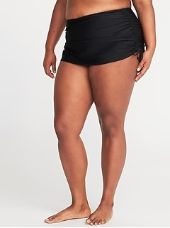 Secret-Slim Side-Tie Plus-Size Swim Skirt