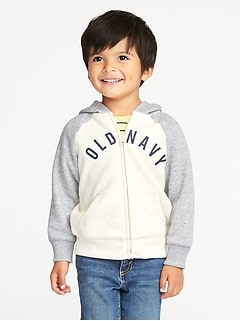 Logo-Graphic Raglan-Sleeve Hoodie for Toddler Boys