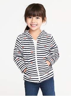 Graphic Zip-Front Hoodie for Toddler Girls
