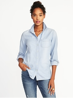 31ed856dfc9 Women s Dress Shirts · Classic Chambray Shirt for Women