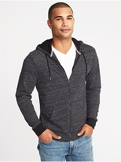 Soft-Washed Lightweight Zip Hoodie for Men