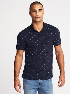 Printed Built-In Flex Moisture-Wicking Pro Polo for Men