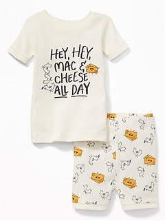 """Hey, Hey, Mac & Cheese All Day"" Sleep Set for Toddler & Baby"