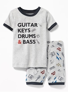 """Guitar Keys Drums & Bass"" Sleep Set for Toddler Boys & Baby"