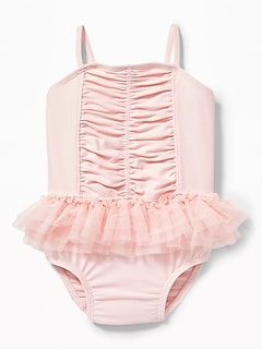 Ruched Tutu Swimsuit for Baby