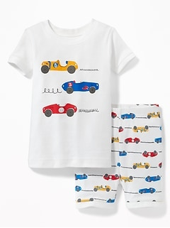 Racecar Graphic Sleep Set for Toddler Boys & Baby