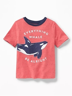 """Everything Whale Be Alright"" Tee for Toddler Boys"