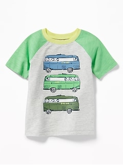 """Living the Dream"" Camper-Van Tee for Toddler Boys"