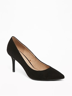 Sueded High-Heel Pumps for Women