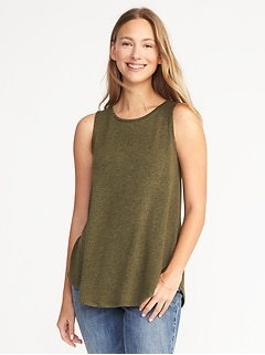 Luxe Soft-Spun High-Neck Swing Tank for Women