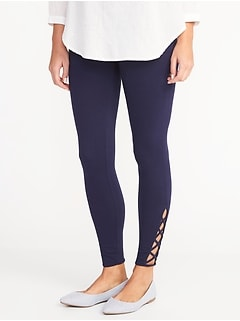 0570f4b2eaf51 Old Navy > Shopping Index > Bottoms > Leggings > Black Leggings.  Lattice-Hem Ankle Leggings for Women