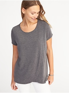 Maternity Cross-Front Nursing Top