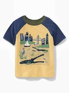 Crocodile City Graphic Tee for Toddler Boys