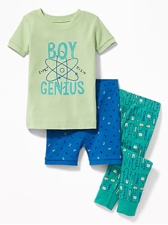"""Boy Genius"" 3-Piece Sleep Set for Toddler & Baby"