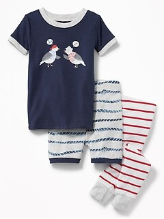 Nautical 3-Piece Sleep Set for Toddler & Baby