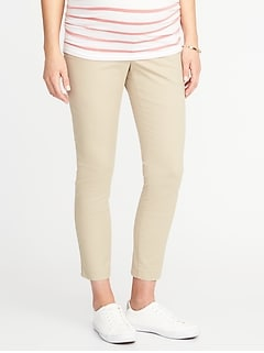 Maternity Full-Panel Pixie Chinos