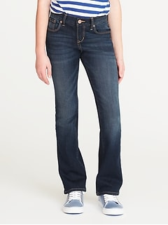 Dark-Wash Boot-Cut Jeans for Girls