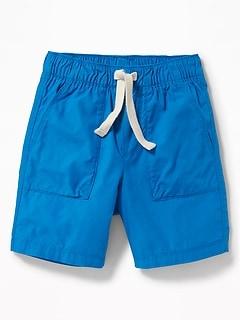 Pull-On Poplin Shorts for Toddler Boys