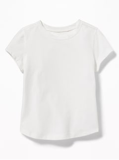 Jersey Crew-Neck Tee for Toddler Girls